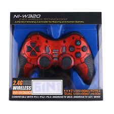 Wireless 2.4G USB Dual Shock Game Controller Joystick Playstation for PS2 PS3 1x