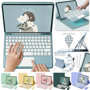 Bluetooth Keyboard w Touchpad Case Cover For iPad 5 6 7 8th Pro Air 2 3 4 2021