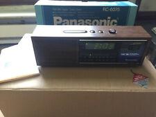 Vintage Panasonic AM/FM Digital Alarm Clock Radio Model RC-6075 w. org box