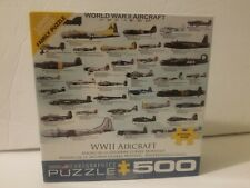 World War II WWII Aircraft Jigsaw Puzzle - 500 pc - Eurographics - Made in USA