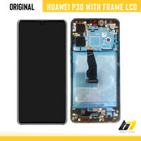 Genuine OLED LCD Touch Screen Digitizer Assembly With Frame For Huawei P30 Blue