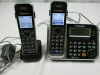 Panasonic KX-TG7873 Bluetooth Enabled Phone Answering Machine and 2 Phones
