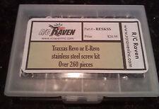 TRAXXAS Revo, e-Revo, 260+ Piece Stainless Steel Hex Screw Kit NIB