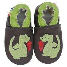 carozoo fire dragon brown 6-12m soft sole leather baby shoes