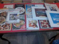 Lot de 13 livres de cuisine, divers...