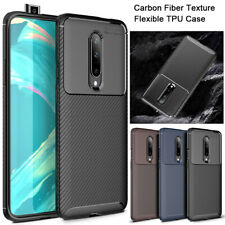 For OnePlus 7 Pro Case Shockproof Soft TPU Carbon Fiber Texture Slim Phone Cover
