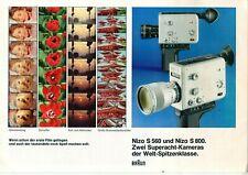 BRAUN - Prospekt Broschüre - Nizo S 560 S 800 - Filmkamera - B17076