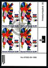 Finland 1997 Used Block of 4 - Ice Hockey World Championships - First Day Cancel