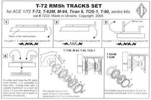 Ace Models 1/72 T-72 RMsH TANK TRACKS Photo Etch Set