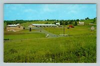Romney WV, Manorland Post Motel, Advertisement, Chrome West Virginia Postcard