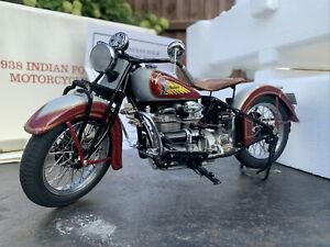 Classic Indian Four 1938 Motorcycle Model DieCast Metal 1:10