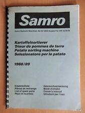 Ersatzteilliste Gebrauchsanweisung Samro Kartoffel-Sortierer KS 80 1988/89 list