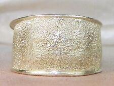 Sterling Silver .925 Sandblast Finish Wide Band Fashion Cigar Ring-Size 6.75