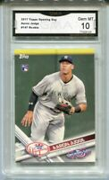 2017 Aaron Judge Topps Opening Day Rookie Gem Mint 10 #147