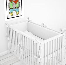 Tour de Lit Protection de la Tête Nid 360° avec Écharpes pour le Lit Bébé