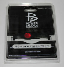 Power Balance Black Collection Schwarz/Schwarz/Rot - S