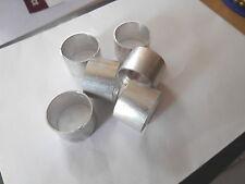 """6 ALUMINIUM 1"""" X 3/4"""" OPEN END FERRULES FOR BILL HOOK GARDEN TOOL WOODEN HANDLES"""