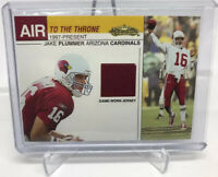 2002 Fleer Showcase Air to the Throne Jake Plummer Jersey Arizona Cardinals