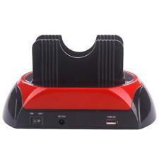 "Dual 2.5"" 3.5"" IDE SATA HARD DRIVE DISK HDD DOCKING STATION USB 2.0 DOCK HUB LN"