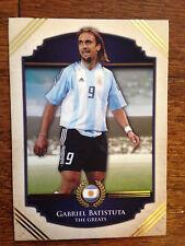 2014 Futera Greats Unique Soccer Card- Argentina BATISTUTA Mint