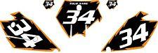 2003-2004 KTM 200 SX Custom Pre-Printed Black Backgrounds Orange Shock Series
