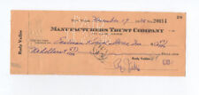 RUDY VALLEE signed 1936 check to Eastman Kodak Stores - actor singer autograph