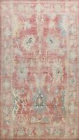 Geometric Floral Authentic Oushak Turkish Area Rug Vegetable Dye Handmade 10x13
