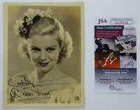 Claire Trevor RARE Actress Vtg Signed Autographed 5x7 Photo Oscar Winner JSA COA