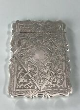 More details for victorian silver card case birmingham 1871 adzx