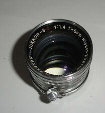 Nikkor 5 cm f 1:1.4 Lens  Leica Screw Mount