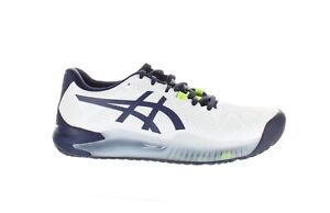 ASICS Mens Gel-Resolution 8 White/Peacoat Tennis Shoes Size 6.5 (1776715)
