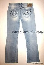SILVER JEANS TUESDAY Womens 27 x 28 Hemmed Light Faded Wash BOOTCUT Boot Cut