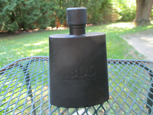 1800 Tequila Lightweight Matte Black Plastic Alcohol Screw Cap Hip Flask NEW