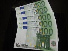 5 x100Euro Geld Schein Sammler aus gleicher charge / X-Serie (Deutschland) 2002