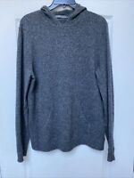 Vince Womens Hoodie Sweater Wool Blend Pullover Front Pocket Gray Size M FLAW