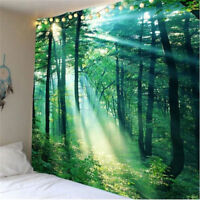 Forest Sunshine Tapestry Tree Wall Hanging Room Bedspread Throw Art Home Decor