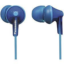 Panasonic RP-HJE125  ErgoFit In-Ear Earbuds - BLUE- Brand New - Free Ship