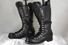DSQAURED2  'RUNWAY' MEN STUDDED COMBAT BIKER RIDING TALL  BOOTS EU 45 US 12