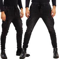 Pantaloni uomo cargo militari tasconi laterali casual TOOCOOL laccio AD7575A