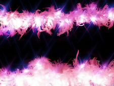 100 Pink Feather Showgirl fairy night light Party evening fancy dress 10 metre