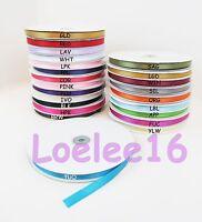 "Satin Ribbon 100 Yards sizes 1/4"" 3/8"" 5/8"" 7/8"" Bulk 300FT Roll 100% polyester"