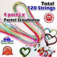 120p Strings Pastel Scoubidou Scoobie Scooby Fashion Handmade Craft Art Bracelet