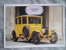 Daimler 30 HP Specification Sheet