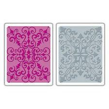 Sizzix A2 Embossing Folders 2PK - Damask Set - 656795