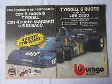 Pubblicità Advertising Werbung Italian Clipping 1977 TYRRELL 6 RUOTE BBURAGO