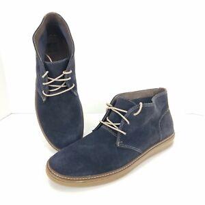 Johnston & Murphy J&M Mens Size 13 M Navy Suede McGuffey Chukka Boots Shoes