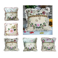 2x Daisy Silk Ribbon Cross Stitch Kits Embroidery Throw Cushion Covers DIY