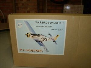WARBIRDS UNLIMITED P51 MUSTANG PSS  SLOPE MODEL