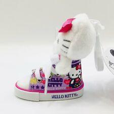 Sanrio Hello Kitty Rose Pink Sneaker High Top Shoe Plush Doll Mascot Keychain