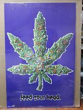 Vintage Feed your Head 1995 poster marijuana weed 12393